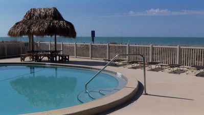 Photo for $599 beach front direct gulf view ground floor please view video 727 4090716