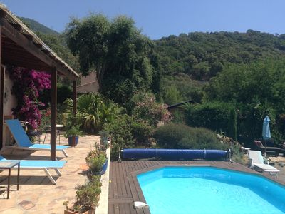 Photo for Family villa in hills of Côte d'Azur near beautiful Cavaliere beach/activities