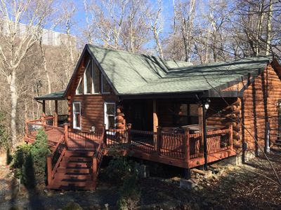 Photo for Cozy Log Cabin Nestled on Sugar Mountain