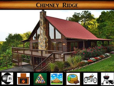 Photo for Chimney Ridge} Mountain Views \ Game Room \ Hot Tub \ Wifi