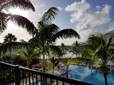 Photo for 2 BR - Gorgeous Views of Grace Bay and Turtle Cove Marina