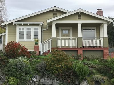 Photo for Elegant 2-Bedroom, 2-Bath Plus a Spa Tub.  View of City Lights and Humboldt Bay