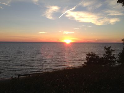 Enjoy picture-perfect views every night from our lakefront cottage!
