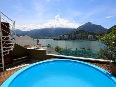 Photo for Rio243 - Penthouse with pool and Lagoa views in Ipanema