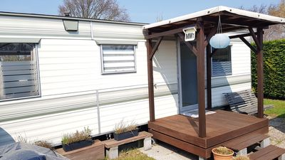 Photo for Cozy mobile home on the 4 * Park de Brem in Renesse