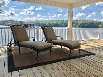 Photo for Hyco Lake Waterfront TurnKey Park Like Setting-180° Views & Sunsets Break-A-Way