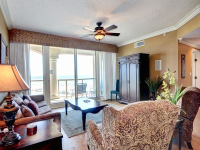 Photo for Spacious Beach Condo with Stunning Views. Resort Amenities for Everyone!