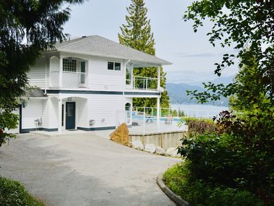 Photo for Large Water View Home With Private Pool in Gibsons!