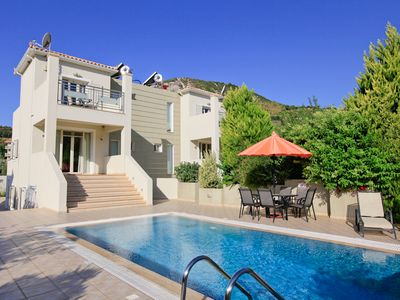 Photo for Villa Fedra: Large Private Pool, Walk to Beach, A/C, WiFi, Car Not Required, Eco-Friendly
