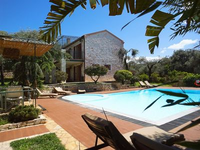 Photo for The Thalia Estate: Large Private Pool, Walk to Beach, Sea Views, A/C, WiFi, Car Not Required