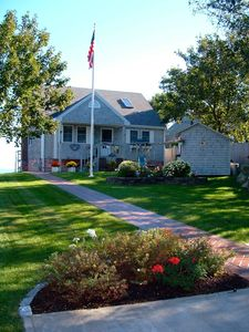 Photo for Oceanfront home with expansive views of Cape Cod Bay and private beach access