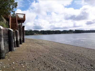 Beautiful Puget Sound beach with newly built access
