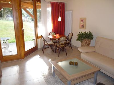 Photo for Lovely, quiet 4-star apartment for two - close to village and lake - Wi-Fi