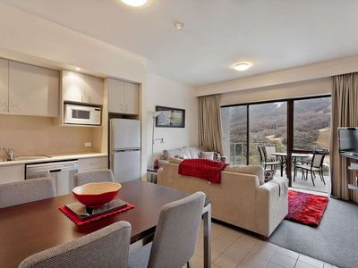 Photo for Well equipped apartment with balcony and sweeping views