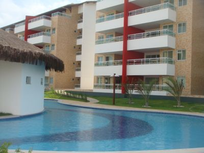 Photo for Apt 104m2, 3 bedrooms, ground floor, new, facing the sea and there are 800 m from Beach Park