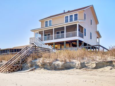 Photo for Oceanfront home w/ panoramic views, parking passes, & free WiFi!
