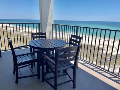 No shortage of blue skies or blue waters from your 12th floor balcony view!!