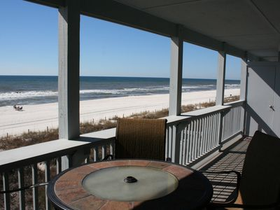 Photo for Newly decorated 2nd floor condo with direct beach access from deck to beach.