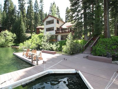 Photo for 5 bedroom, 3 bath, sleeps 11. Donner Lakefront with Private dock. DLR#020