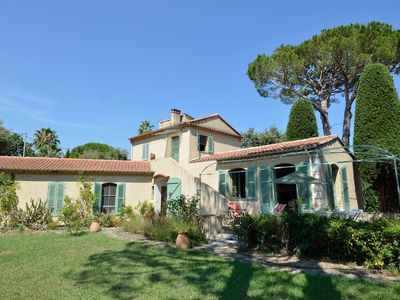 Photo for Cap d'Antibes villa 200 meters from the beach 9 people enclosed garden 1200 m2