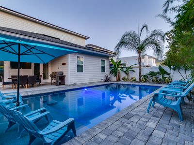 Photo for Luxury Beach House with Private Heated Pool and Game Room
