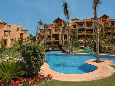 Photo for Spacious luxury apartment, gated complex, clubhouse, NR golf, tennis, beach