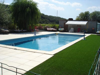 Photo for Le Jasson ***, swimming pool, 2 bedrooms