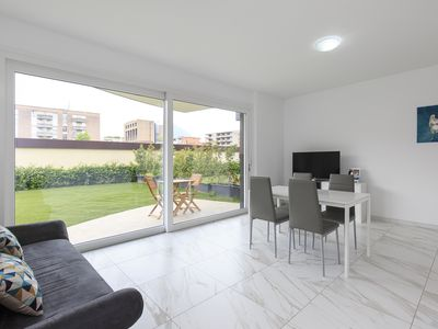 Photo for Beautiful two-room apartment in the heart of Lugano - ROGGIA 1