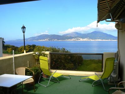 Photo for 110 M2 F 5 FEET IN THE WATER terrace 25 m2 facing Ajaccio FREE GARAGE