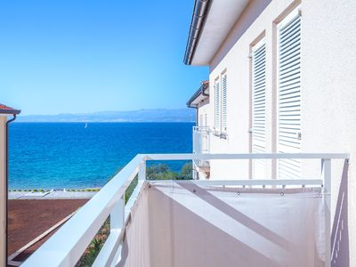 Photo for Apartment with partial sea view, 2 bedrooms, garden, 2 balconies
