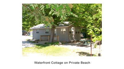 Photo for Waterfront Cottage on Private Beach on Lake Huron