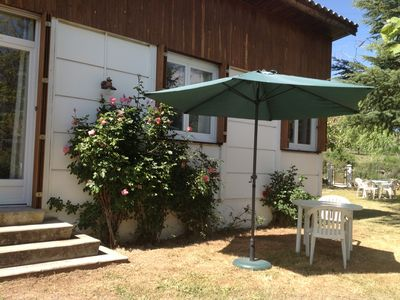 Photo for Mountain Bungalow-Chalet at the foot of Monte Cinto, with garden.