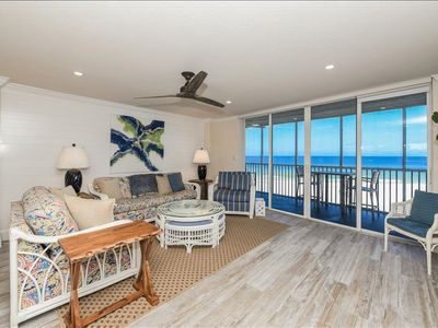 Photo for Oceanfront 180-degree view on #1 Beach in America - Walk Downstairs to White Sand