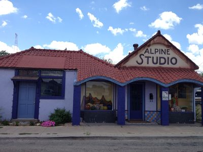 Photo for Historic Downtown Artsy  3 bed 'Alpine Studio' near Marfa, in Alpine/by Amtrak