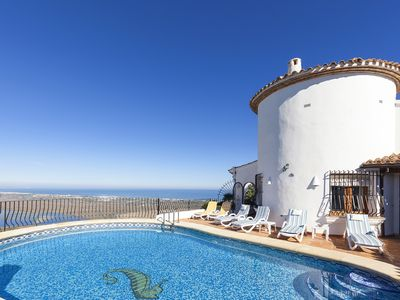Photo for Stunning Villa with Private Pool &  Sea Views (Sleeps 6)