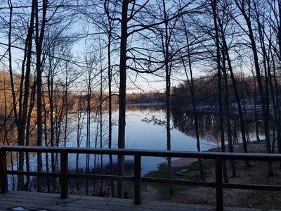 Photo for Sunrise Lake House - 2700 Square Foot Lakefront Retreat in Le Roy, Michigan
