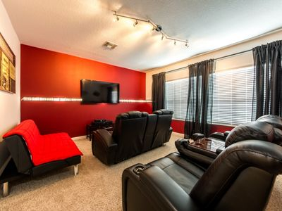 Photo for Private Cinema Room, Loaded Game Room & Themed Bedrooms For Kids Near Disney!