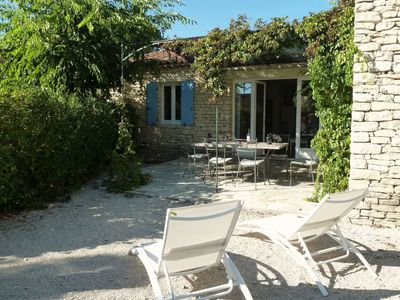 Photo for Dry stone Provencal country house in Gordes