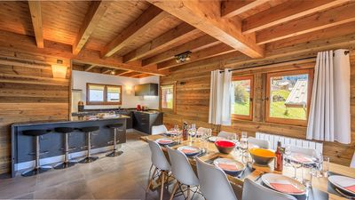 Photo for Detached chalet renovated for 12 people, 200m from the ski lifts