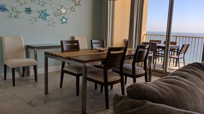 Photo for Sparkling BEACHFRONT Condo ~ Huge Balcony Views * Free Beach Setup