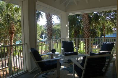 Covered Porch is perfect for entertaining or family time...my favorite place!