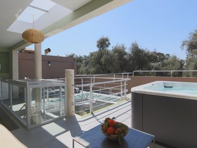 Photo for Designer Riad with rooftop hot tub and fabulous views over the Mamounia gardens