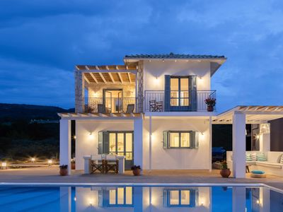 Photo for 10% OFF: Brand New villa with private pool and panoramic views in Kalamitsi