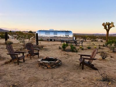 Photo for Silver Star Off the Grid Vintage Airstream Joshua Tree! Great Views!!!