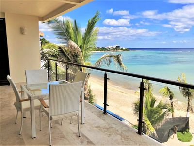 Photo for Amazing Brand New Beachfront condo in Akumal with a Pool, AC, WIFI