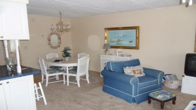 Photo for Furnished One Bedroom Condo. Water View, Heated Pool,remodeled marble bathroom.