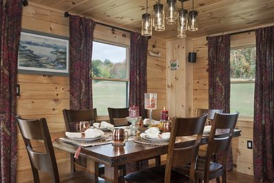 Beautiful dining room for the family to all sit together