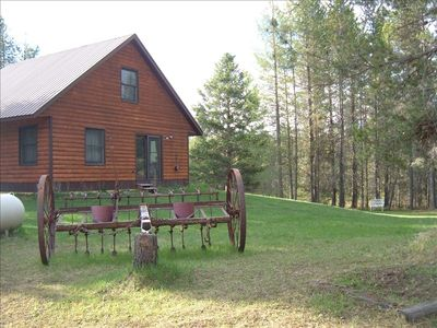 big open yard,ten acres of privacy,5 acres of beautiful lush lawn to run around