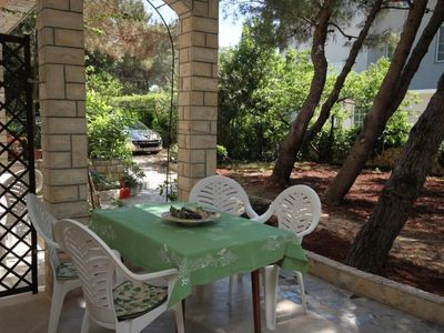 Photo for One bedroom apartment with terrace Novalja, Pag (A-4124-e)