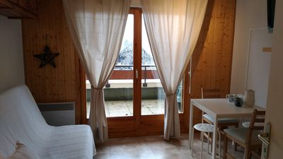 Photo for Nice studio comfortable at the foot of the ski slopes with terrace cellar parking